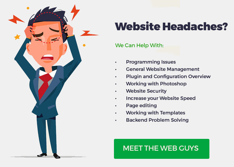 We can help with your website problems