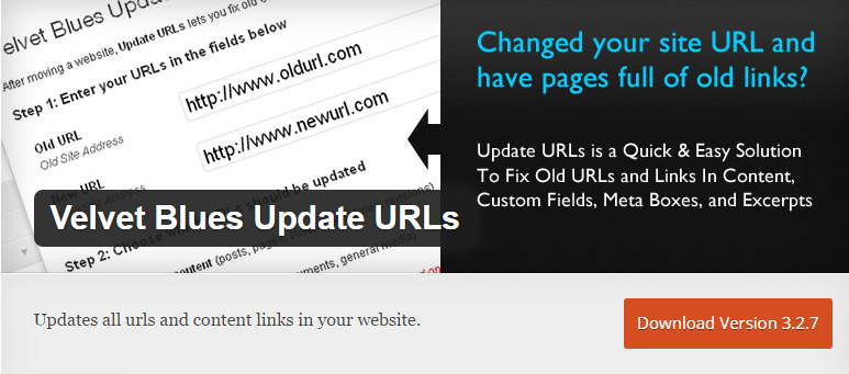 Velvet Blues Find and Replace URLS